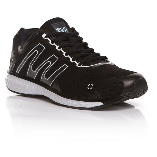 Zapatillas Running IPSO Negro Blanco Hombre
