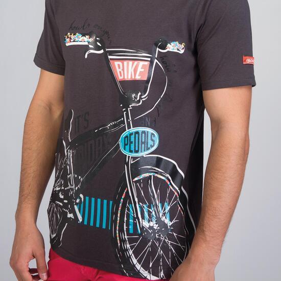 Camiseta Manga Corta SILVER STAMPS Gris Hombre
