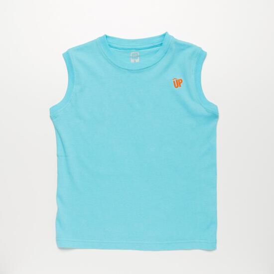 Camiseta Celeste UP BASIC Niño (2-8)