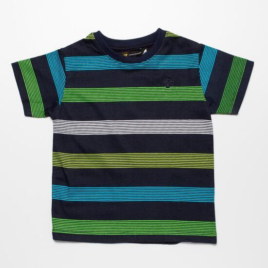 Camiseta Rayas UP BASIC Marino Niño (2-8)