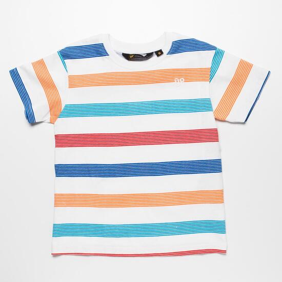 Camiseta Rayas UP BASIC Blanco Niño (2-8)