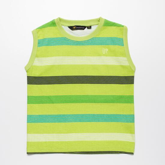Camiseta Sin Mangas UP BASIC Verde Niño (2-8)