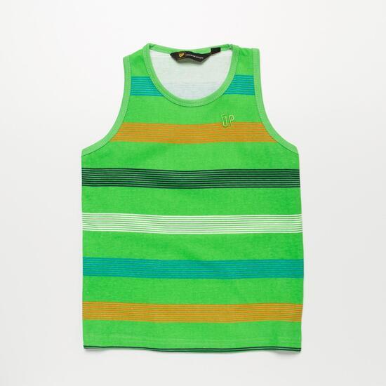 Camiseta Tirantes UP BASIC Verde Rayas Niño (2-8)