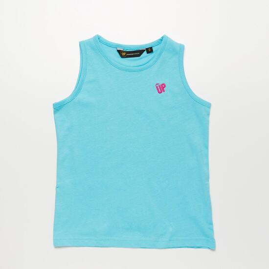 Camiseta Tirante Ancho UP BASIC Celeste Niña (2-8)
