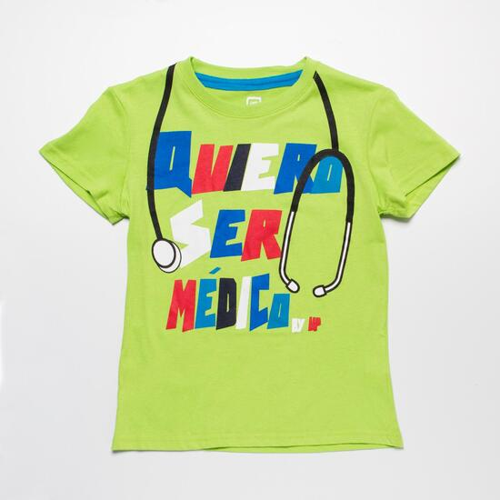Camiseta  Verde UP STAMPS Niño (2-8)