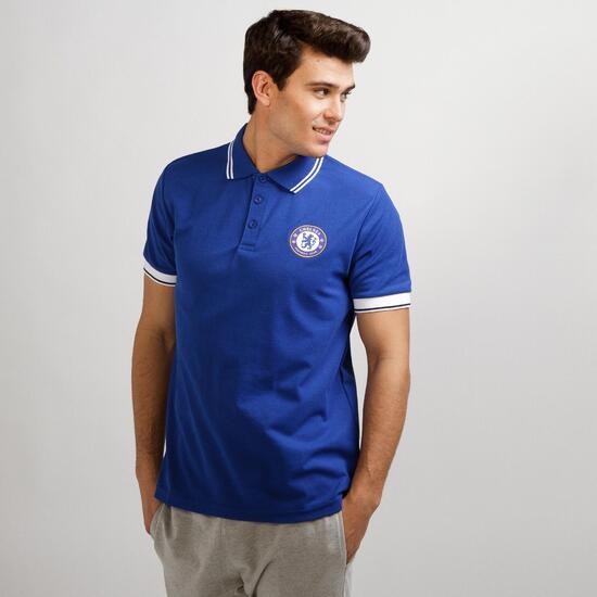 Polo Chelsea SOURCE LAB Azul Hombre