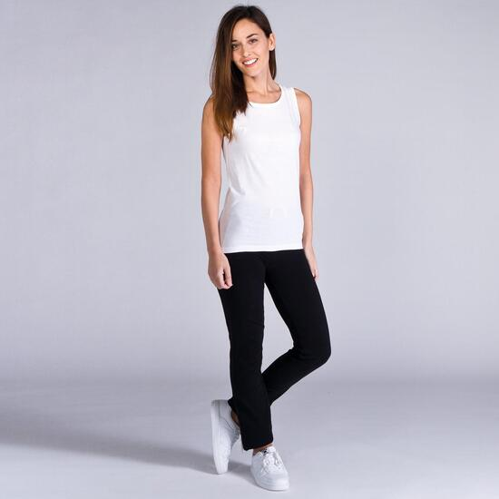 Camiseta Sin Manga UP BASICS Blanco Mujer