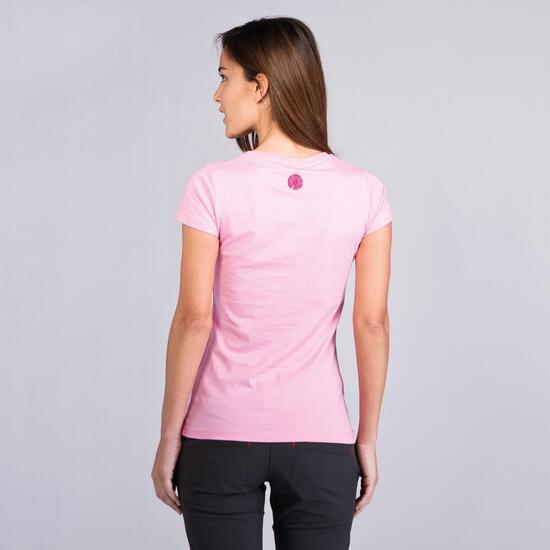 Camiseta Montaña BORIKEN BASIC Rosa Mujer