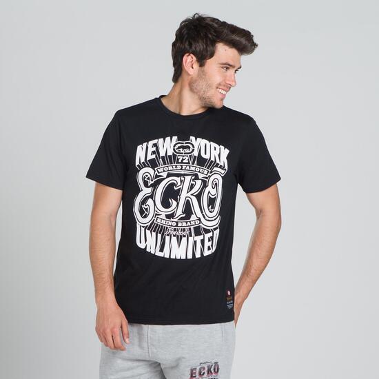 ECKO HUNT Camiseta Negra Hombre