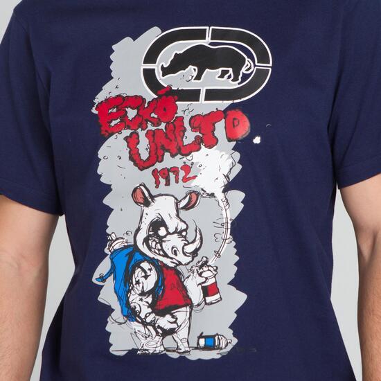 ECKO RHINOFFITTI Camiseta Marino Hombre