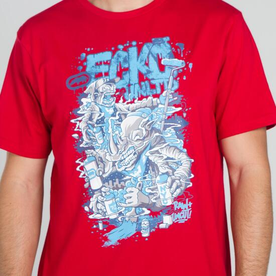 ECKO GRAFFITTI RHINO Camiseta Roja Hombre