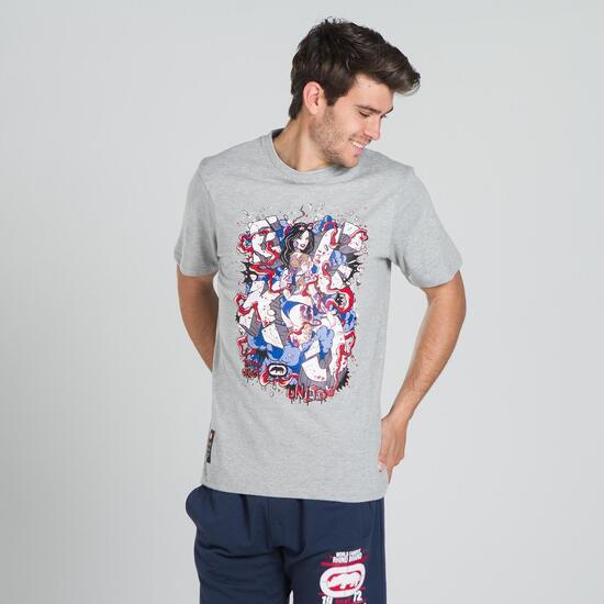 ECKO GRAFFITTI SMASHING Camiseta Gris Hombre