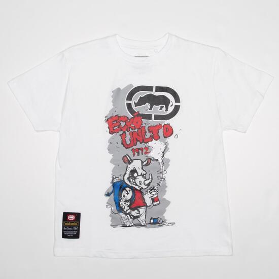 Camiseta ECKO RHINOFFITI Blanca Niño (10-16)