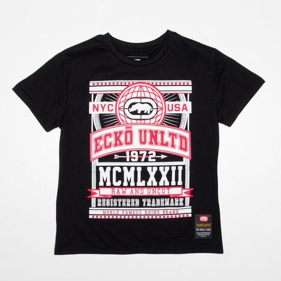 ECKO CLAREMONT Camiseta Negro Niño (10-16)
