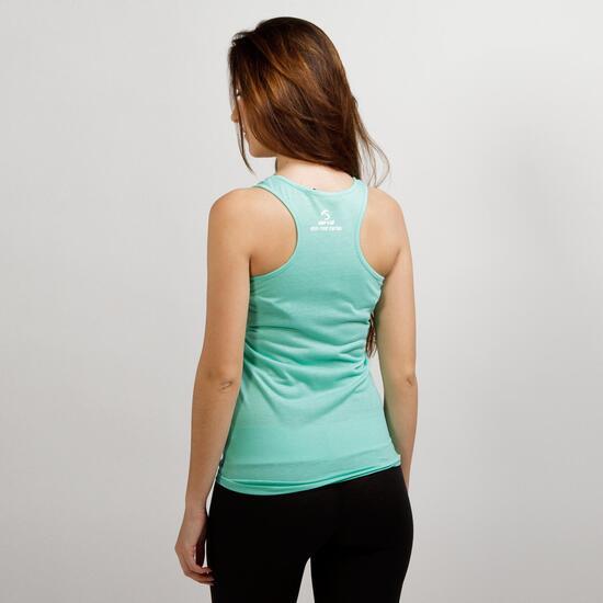 Camiseta Tirantes SERVAL TRAVEL Verde Mujer
