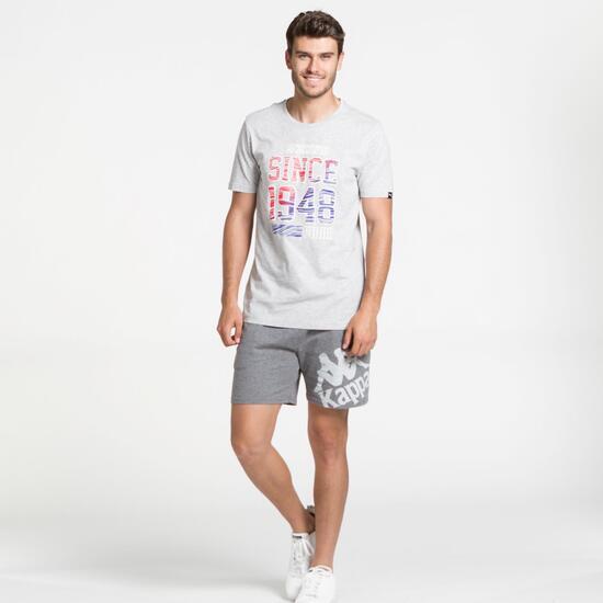 PUMA Camiseta Manga Corta Gris Hombre
