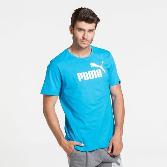 PUMA ESS Camiseta Manga Corta Azul Hombre