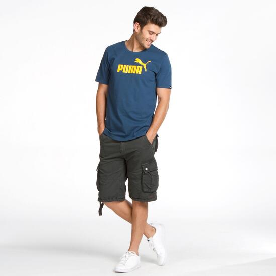 PUMA ESS Camiseta Manga Corta Marino Hombre