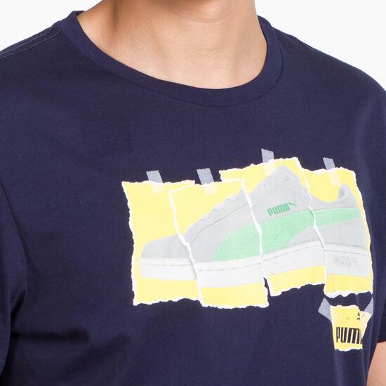 PUMA Camiseta Manga Corta Marino