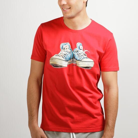 Camiseta Manga Corta TRUNK&ROOTS Rojo Hombre