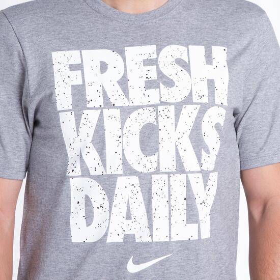 NIKE FRESH KICKS Camiseta Gris Hombre