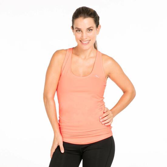 PUMA Camiseta Roja Gym Mujer