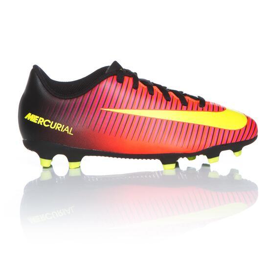 4f1bcafe656fa Nike Mercurial Fg Cr7 Botas Fútbol Tacos Niño (32-35) - ROJO