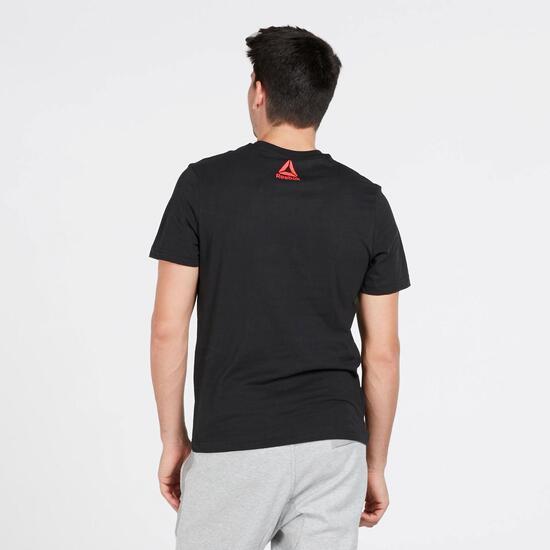 REEBOK Camiseta Manga Corta Negro Hombre