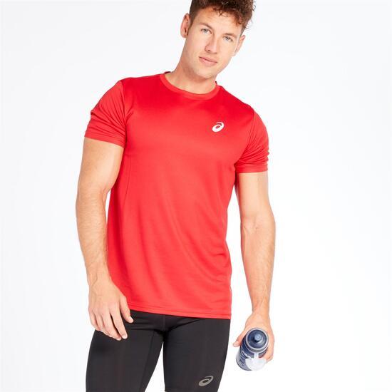 ASICS Camiseta Roja Hombre