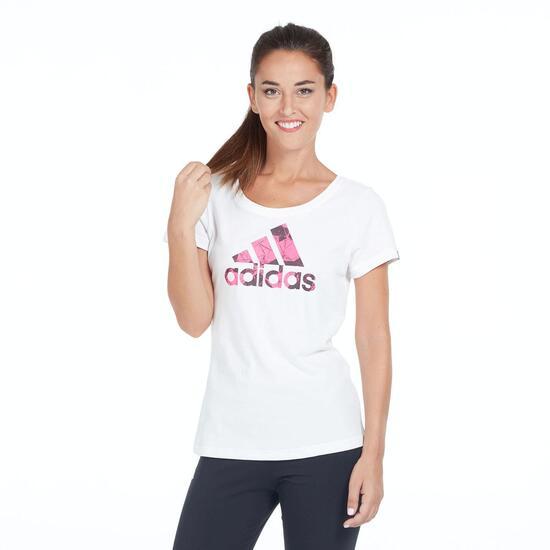 ADIDAS Camiseta Manga Corta Blanca Mujer
