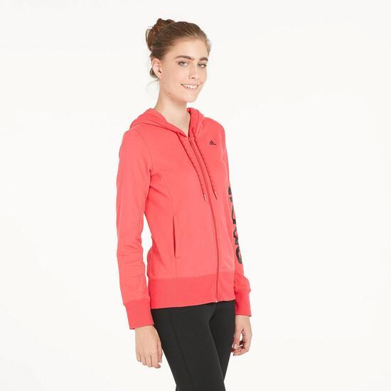 afdc50532e7 Rosa Mujer Sprinter Roja Linear Adidas Capucha Ess Sudadera xwY7ZS4q