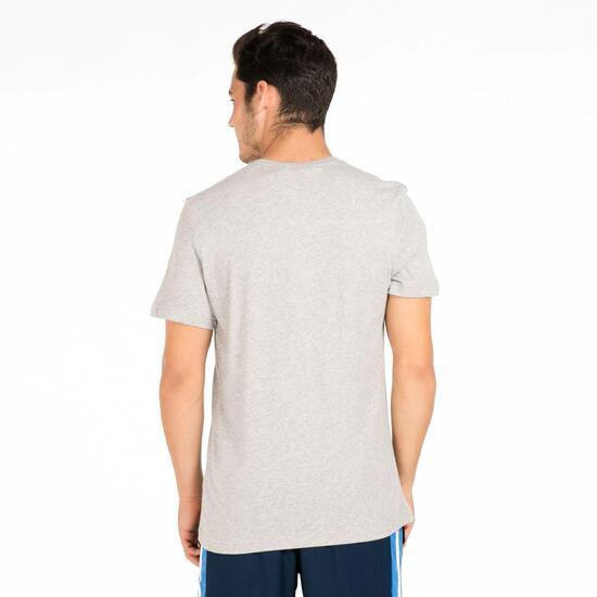 ADIDAS Camiseta Manga Corta Gris Hombre