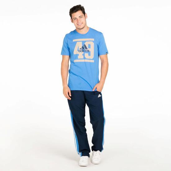 ADIDAS Camiseta Manga Corta Azul Hombre