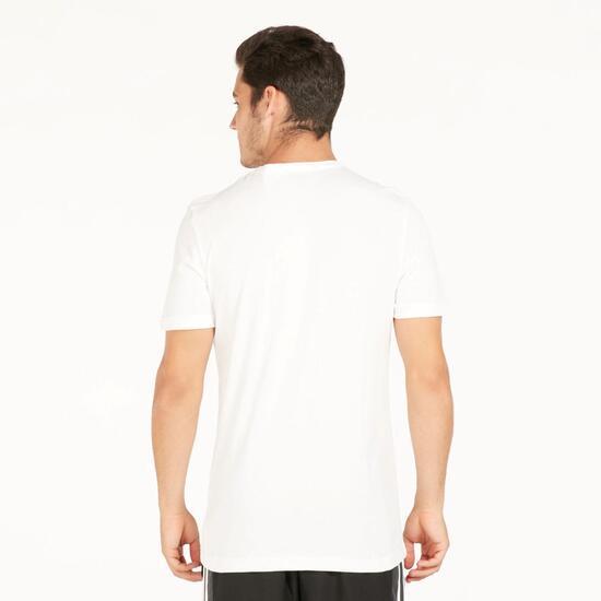 ADIDAS Camiseta Manga Corta Blanca Hombre