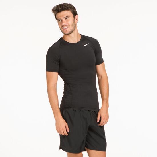 NIKE Camiseta Running Negra Hombre