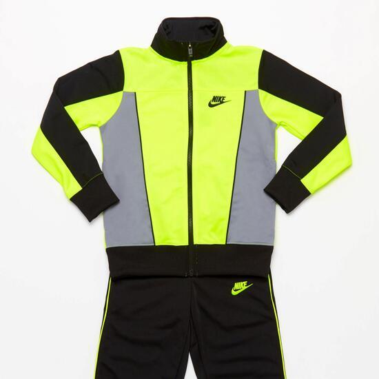 Nike Chándal Acetato Negro Niño (10-16) - NEGRO  1aa8bc653730