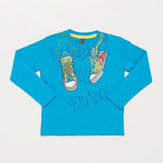 Camiseta Manga Larga SILVER STAMPS Azul Niño (2-8)