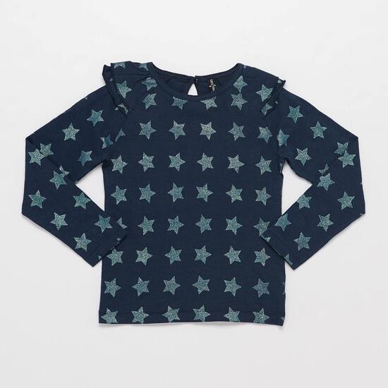Camiseta Manga Larga SILVER BLUE STAR Marino Niña (2-8)