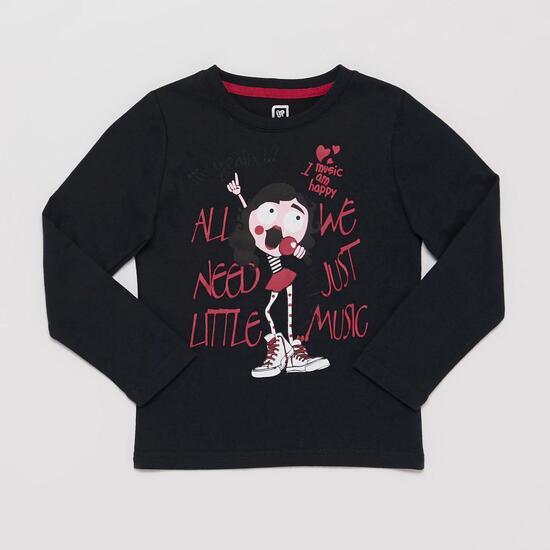 Camiseta Estampado Infantil UP STAMPS Marino Niña (2-8)