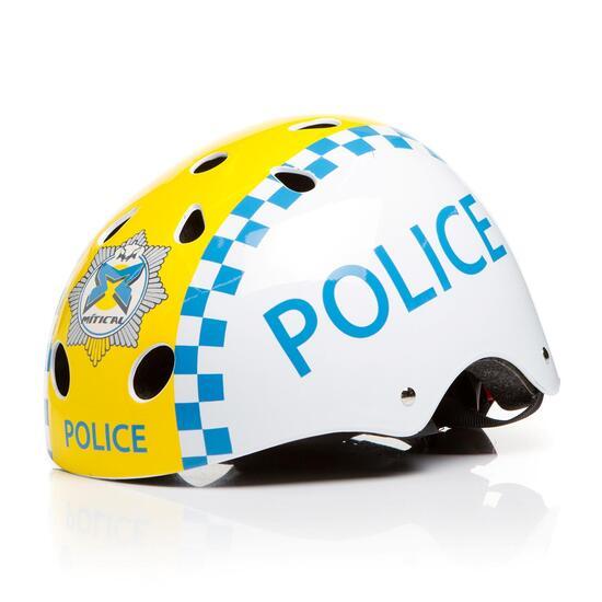 Casco Bici Niña MÍTICAL POLICE Blanco (XS)