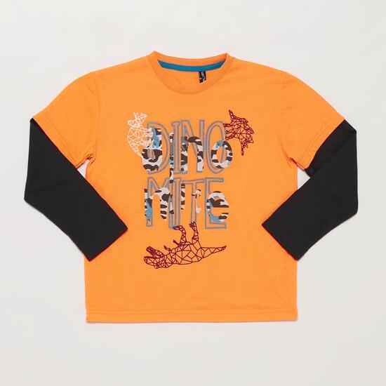 Camiseta Manga Larga SILVER ROBOT Negro Niño (10-16)