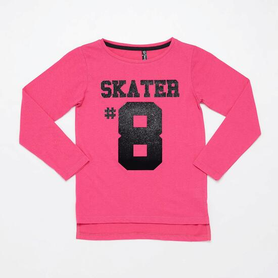Camiseta Manga Larga SILVER SKATE AND HATE Fucsia Niña (10-16)