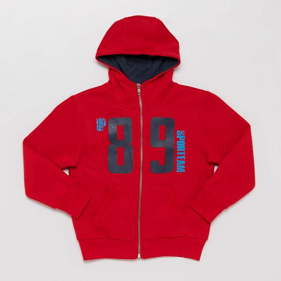 Sudadera Capucha UP BASIC Rojo Marino (2-8)
