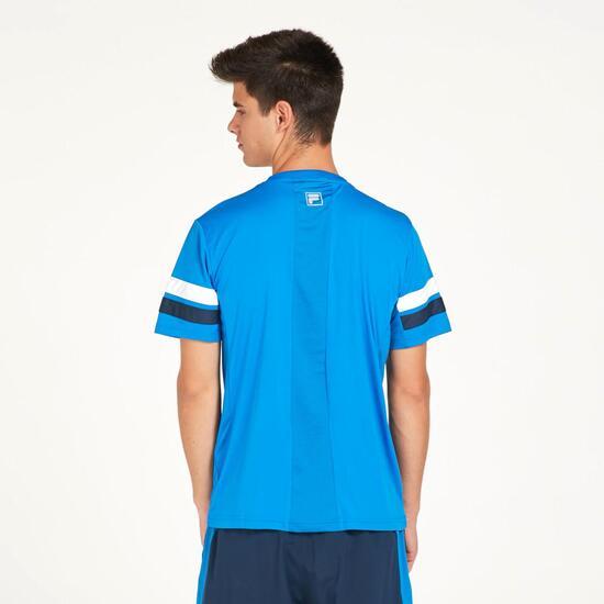 FILA Camiseta Manga Corta Azul Hombre