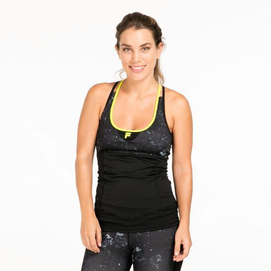 FILA Camiseta Tirantes Gym Negro Mujer