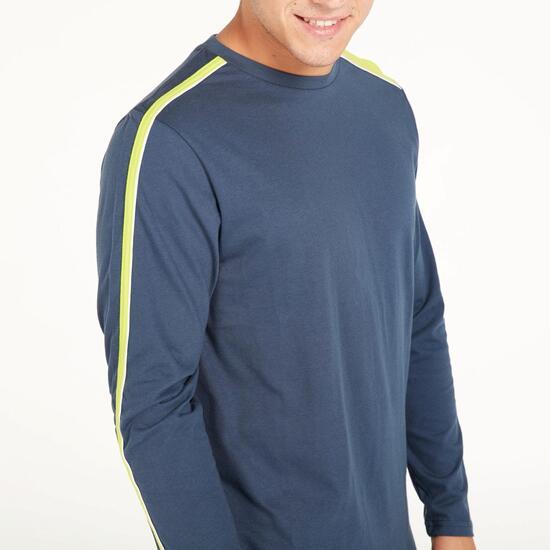 Camiseta Manga Larga SILVER BASIC Marino Lima Hombre
