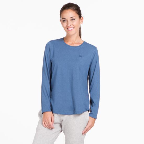 Camiseta Larga UP BASIC Denim Mujer