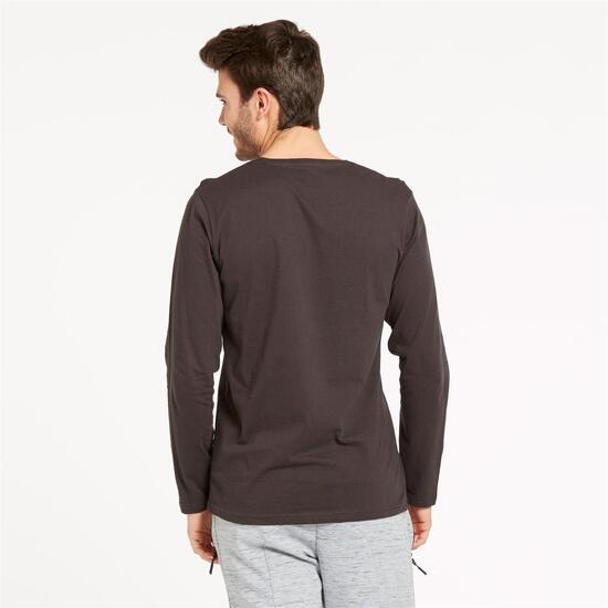 Camiseta Pico UP BASIC Gris Oscuro Hombre