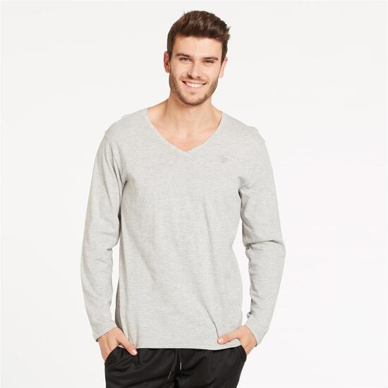 Camiseta Pico UP BASIC Gris Hombre