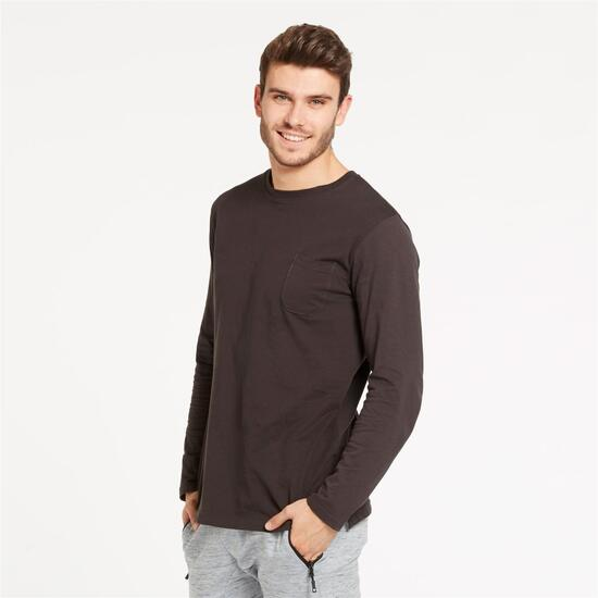 Camiseta Manga Larga UP BASIC Gris Hombre